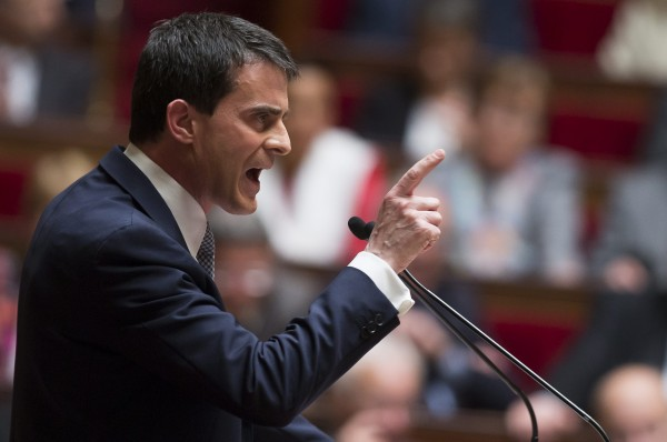 Prime Minister Valls political speech in Parliament