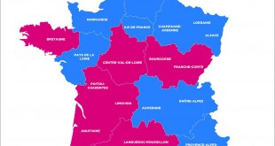 carte élections régionales