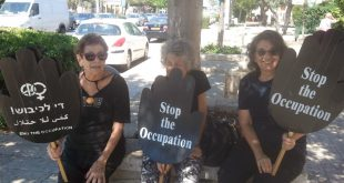 Women in black against occupation