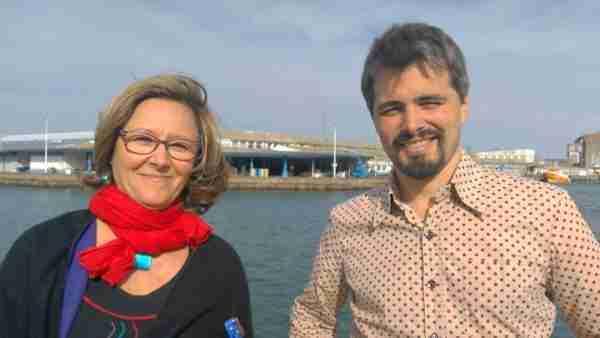 Gael Briand et Patricia Riou port de peche