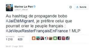 Tweet Marine Le Pen