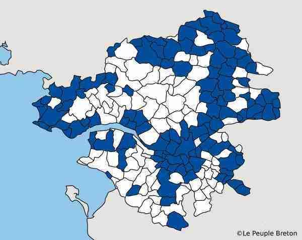 carte communes LA