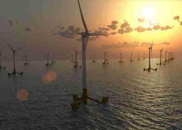 éoliennes flottantes